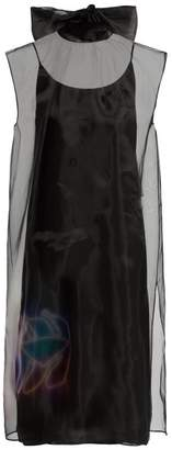 Prada Banana Print Voile Dress - Womens - Black Multi