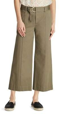 Lauren Ralph Lauren Twill Cropped Wide-Leg Pant