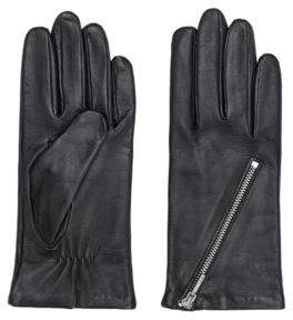 HUGO Gloves in lamb leather with asymmetric zip