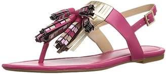 Armani Exchange A X Women's Tassle Fringe Thong Sandals Flat