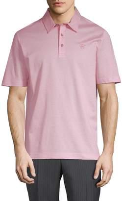 Canali Men's Woven Polo Shirt