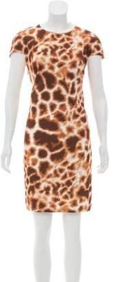 Just Cavalli Cheetah Print Sleeveless Mini Dress