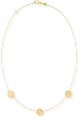Sarah Chloe Cara Three-Initial Engraved Necklace