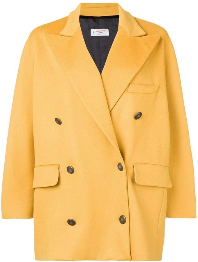 double breasted oversized coat