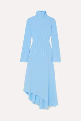 Ellery Dumont Stretch-crepe Turtleneck Midi Dress - Blue