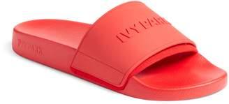 Ivy Park R) Embossed Logo Slide Sandal