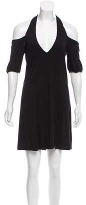 Haute Hippie Short Sleeve A-Line Dress