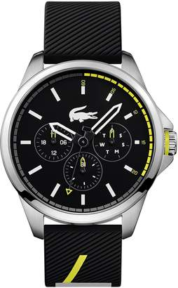 Lacoste Men's Capbreton Multifunctions Watch with Black Silicone Strap