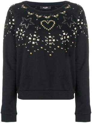 Twin-Set studded embellishments sweatshirt