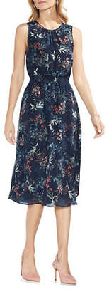 Vince Camuto Garden Floral Midi Dress