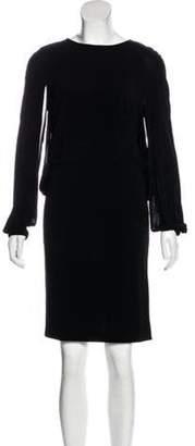 Joseph Long Sleeve Knee-Length Dress Black Long Sleeve Knee-Length Dress