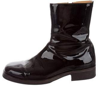 Our Legacy Patent Leather Square -Toe Ankle Boots