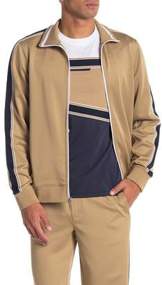 Perry Ellis Zip Front Stripe Track Jacket