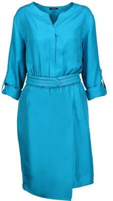 Raoul Carnaby Belted Silk-satin Twill Dress