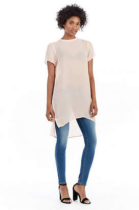 True Religion WOMENS SHEER SILK TUNIC DRESS