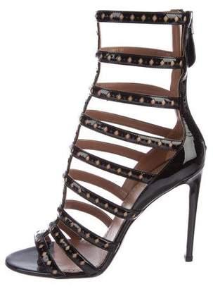 Alaia Laser-Cut Cage Sandals