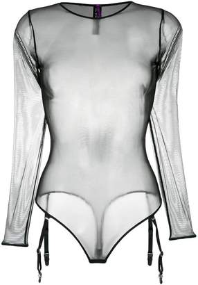 Maison Close Liaison Fatale thong body with harness