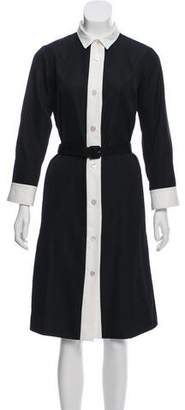 Marc Jacobs Belt-Accented Button Down Dress