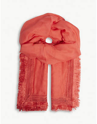 Claudie Pierlot Lace embroidered scarf