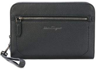Salvatore Ferragamo Firenze zipped leather pouch