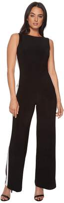 Lauren Ralph Lauren Shah Two-Tone Matte Jersey Jumpsuit Women's Dress