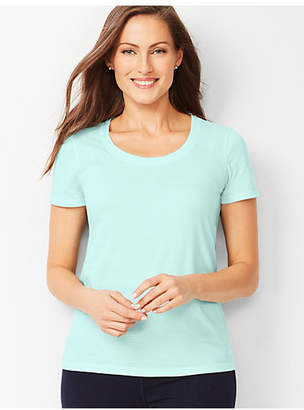 Talbots Fresh Jersey Scoop-Neck Tee