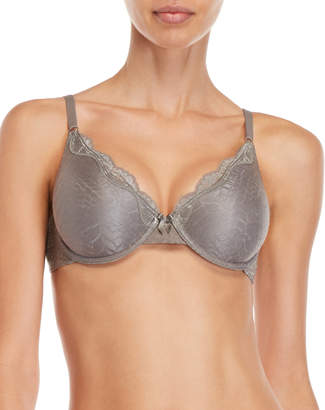 Maidenform Grey Lace Demi T-Shirt Bra