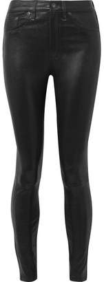 Rag & Bone Leather High-rise Skinny Pants - Black
