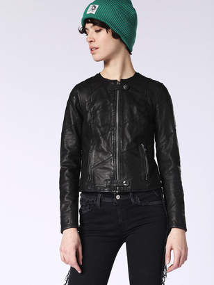 Diesel Leather jackets 0CAQT - Black - L