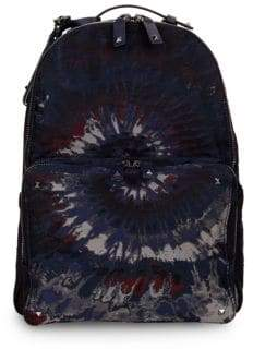 Valentino Double Zip Tie-Dyed Backpack