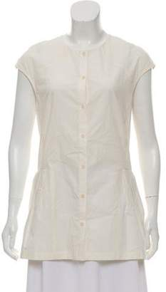 Lela Rose Sleeveless Button-Up Top w/ Tags
