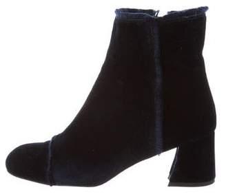 Stuart Weitzman Velvet Ankle Boots