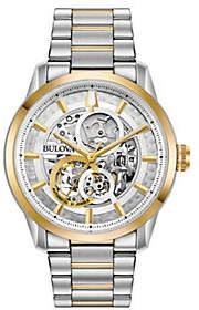 Bulova Men's Two-Tone Automatic Skeleton Dial Watch