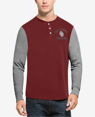'47 Men's Oklahoma Sooners Downfield Henley T-Shirt