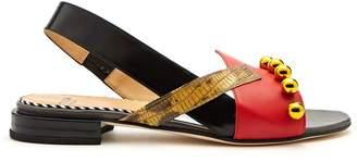 Toga Embellished asymmetric leather sandals