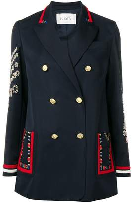 Valentino embroidered double breasted blazer