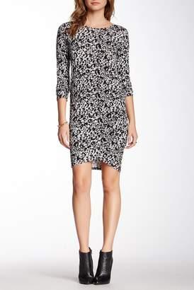 Loveappella Long Sleeve Shirred Midi Dress