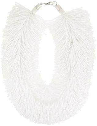 Vanda Jacintho beaded tassel choker necklace