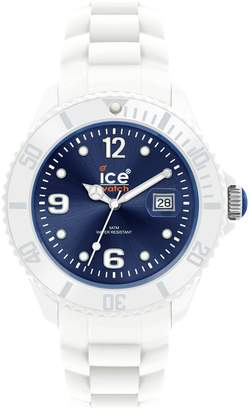 Ice Watch Ice-Watch Ice Men's SIWBBS10 Ice-White Dark Dial with White Bracelet Watch