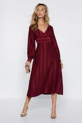 Nasty Gal It's the Stripe Time Midi Dress