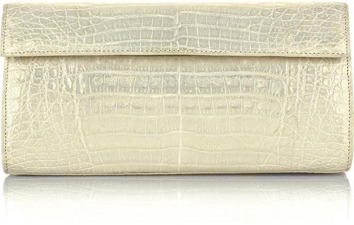 Nancy Gonzalez Classic crocodile clutch