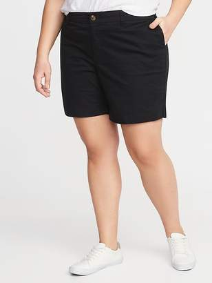 48ce191ffaa ... Old Navy Mid-Rise Plus-Size Twill Everyday Shorts - 7-inch inseam