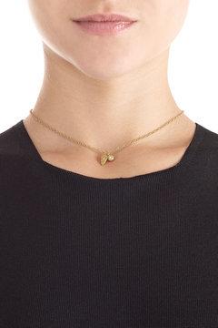 Carolina BucciCarolina Bucci Owl\'s Eye & Wing 18k Gold Necklace with Diamond
