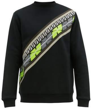 Fendi Logo Print Cotton Jersey Sweatshirt - Mens - Black