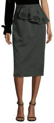 Tanya Taylor Cotton Canvas Skirt