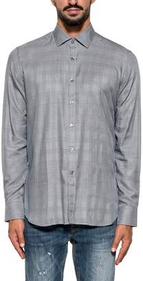 Bagutta Blue/black/white Bberlino Checked Shirt