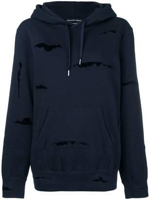 Alexander McQueen ripped hoodie