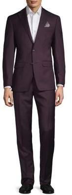 Tallia Orange Solid Wool Suit
