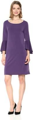 Jones New York Women's Bell SLV High Low Hem Easy Trapeze Dress