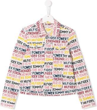 Tommy Hilfiger Junior TEEN all over logo denim jacket
